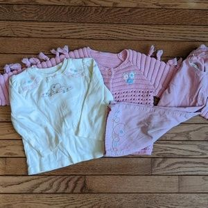 Gymboree Pink Heart Cords Shirt Sweater